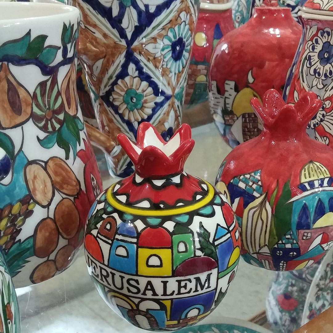 Colorful trinkets can be found in East Jerusalem. Photo © Genevieve Belmaker.