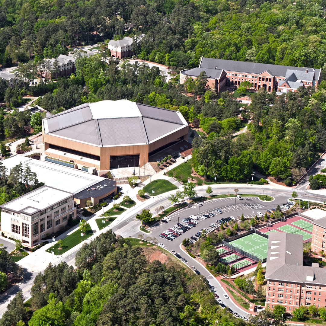 aerial view of the University of Carolina campus